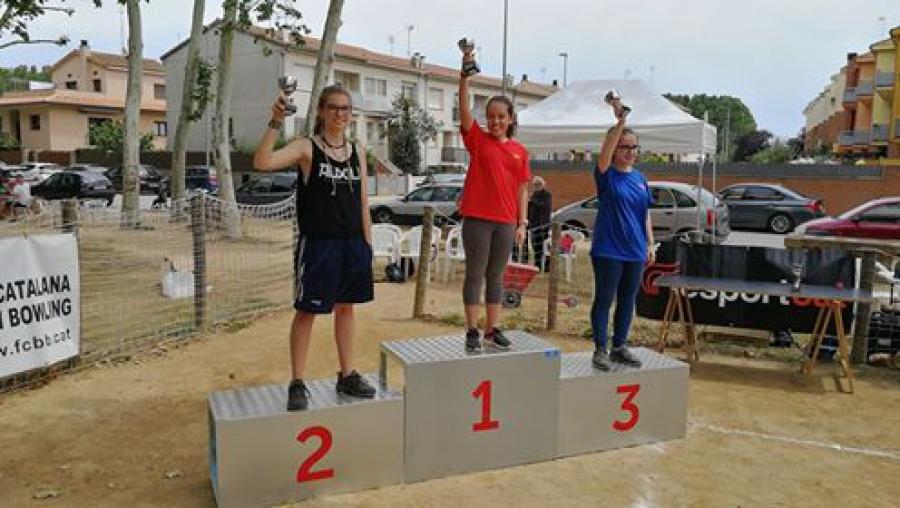 Mariona Salvà sotscampiona al Campionat de Catalunya Individual Infantil de bitlles catalanes