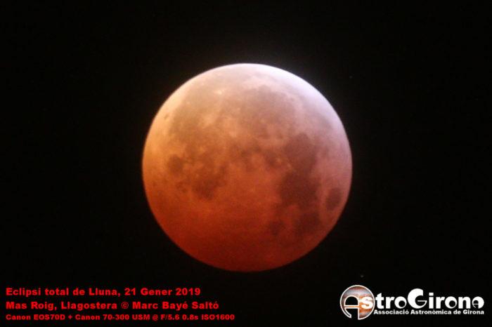 Eclipsi total de Lluna des del Mas Roig II