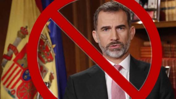 Rebuig unànime al rei Felip VI i aposta per a l'abolició de la monarquia