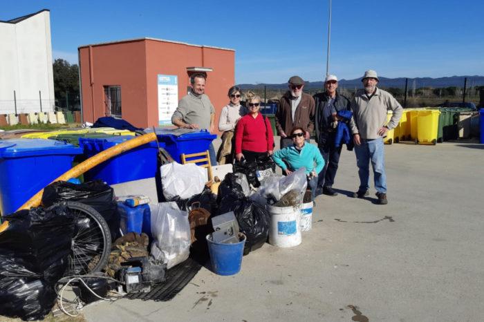 Primera matinal de recollida d'escombraries amb el Bell-Matí
