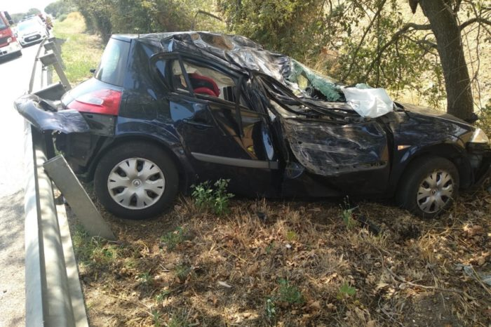 Accident a la C-65 a l'alçada de Llagostera